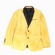 Mens Blazer Suit Large Two Button Velvet Slilm Fit L