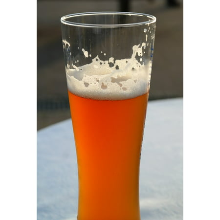 Framed Art for Your Wall Beer Wheat Wheat Beer Beer Glass Drink White 10x13 (All Glass Frames)