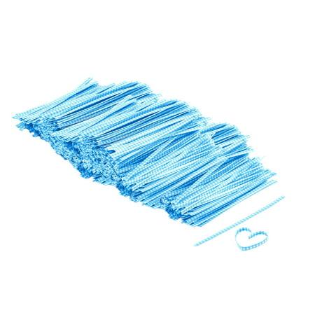 Plaid Design Candy Wrapper Twist Tie String Adornment Blue 102mm Length 2000 (Twist Wrap)