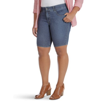 Lee Riders Women's Plus Comfort Waist Bermuda