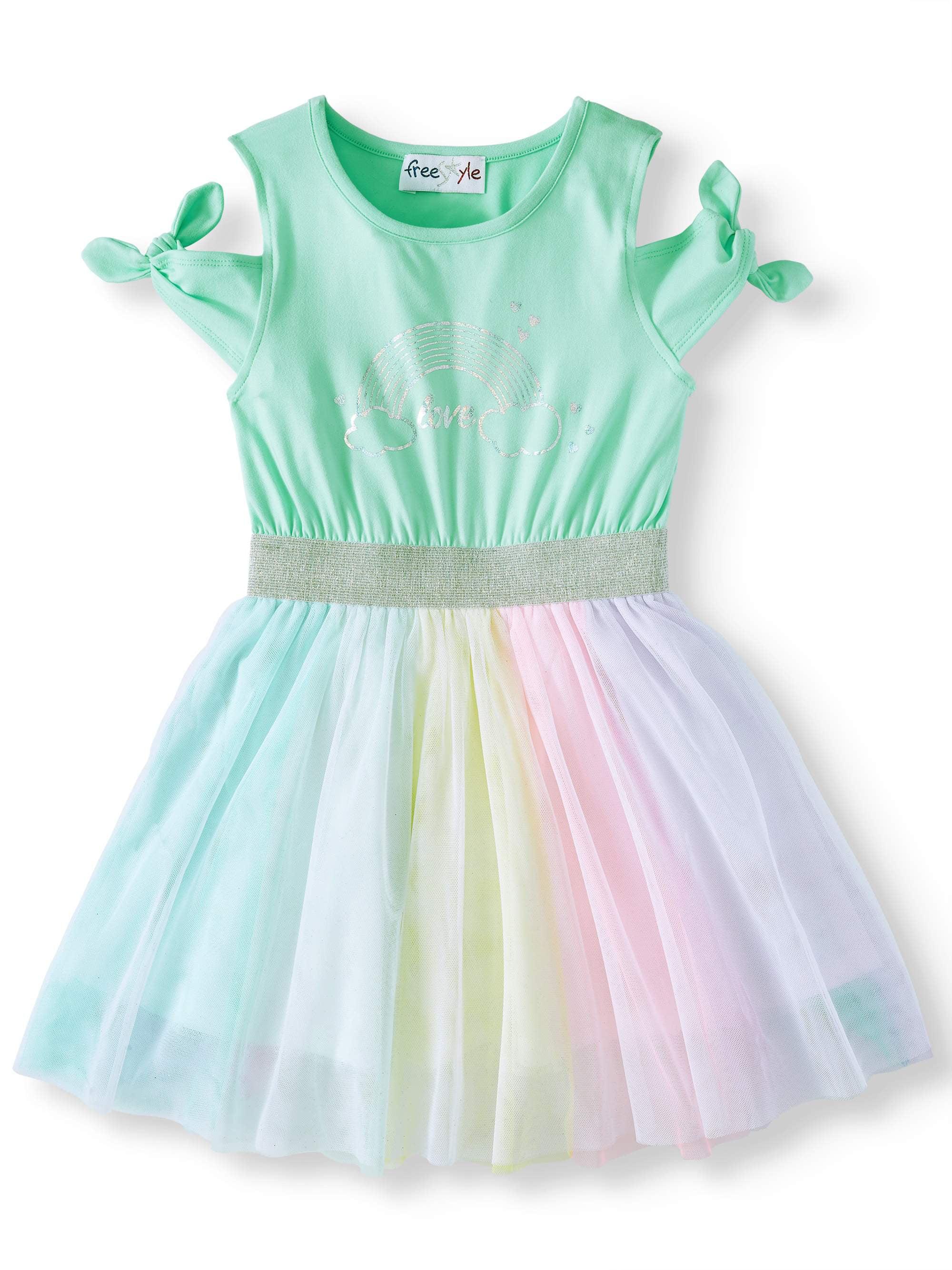 Cold Shoulder Tutu Dress (Little Girls & Big Girls)
