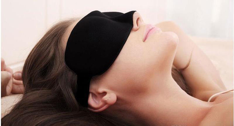 3D Eye Mask Night Relax Rest Sleep Soft Padded Shade Cover Sleeping Blindfold