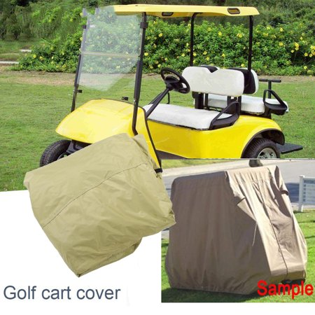Anauto Durable Waterproof 4 Passenger Golf Cart Storage Cover Car Protector for EZ GO Club Car YAMAHA, Waterproof Golf Cart Cover, Golf Cart Storage (Club Car Vs Ez Go Vs Yamaha)