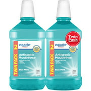 Equate Blue Mint Antiseptic Mouthrinse, 50.7 fl oz, 2 count