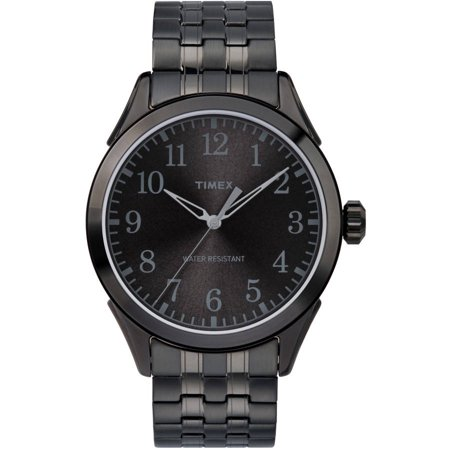 Timex Mens Briarwood Black Watch  Stainless Steel Expansion Band