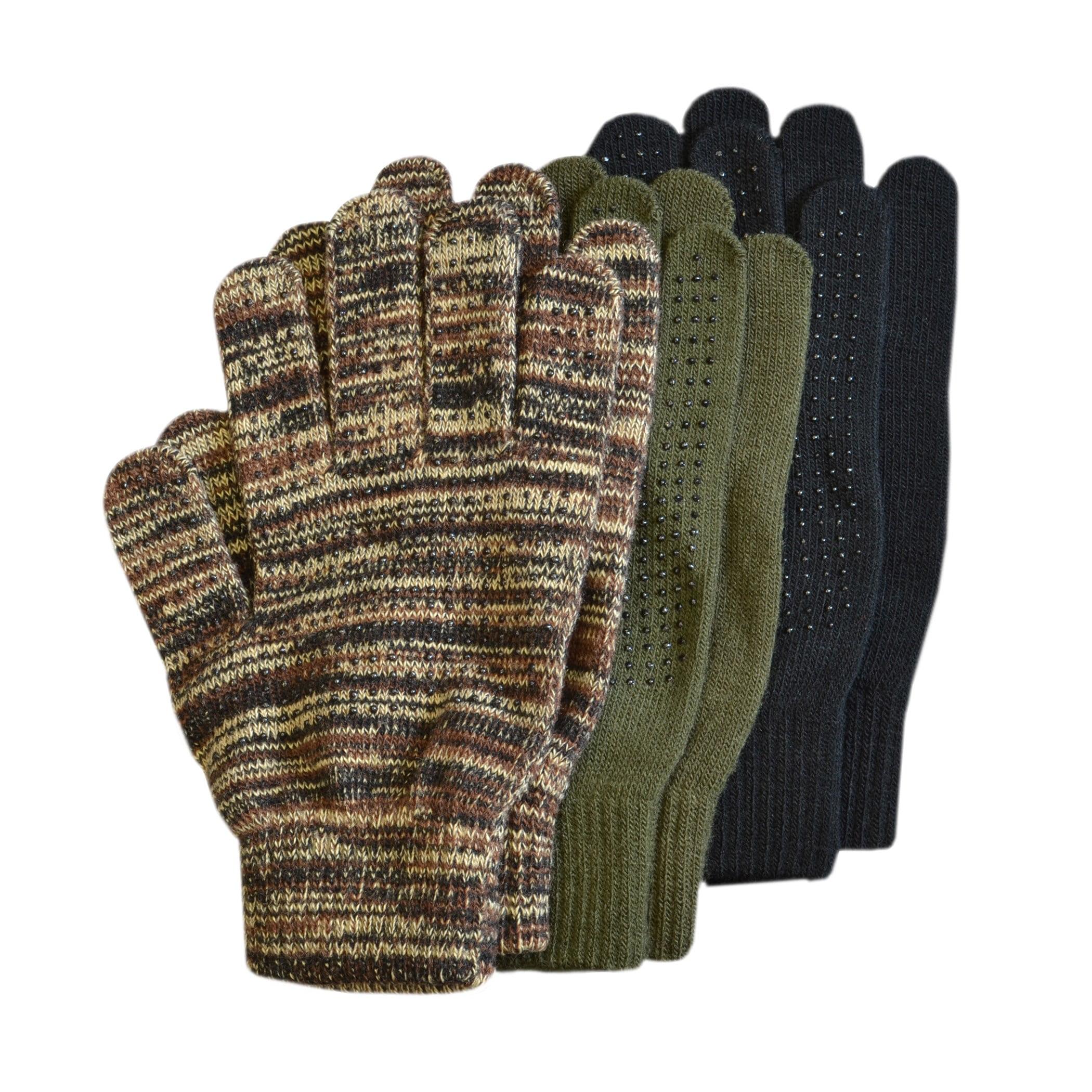 ec2928005f795 QuietWear 3-Pair Pack Grip Dot Assorted Gloves