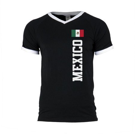 Custom Green Soccer Jerseys (World Cup Mexico Mens Soccer Jersey V-Neck T-Shirt)