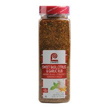 - 6 PACKS : Lawrys Sweet Basil Citrus and Garlic Rub, 23 Ounce -- 6 per case.