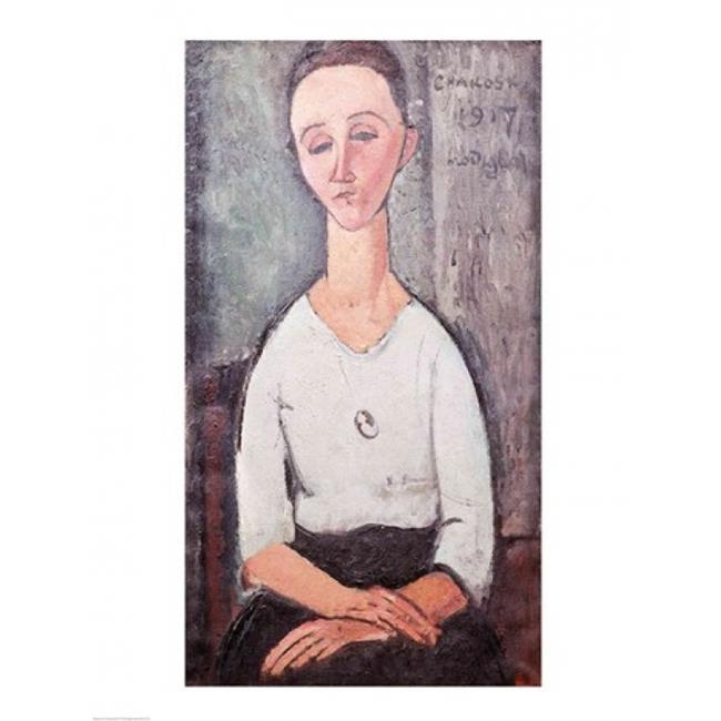 Posterazzi BALXIR227613LARGE Portrait of Madame Chakowska 1917 Poster Print by Amedeo Modigliani - 24 x 36 in. - Large - image 1 of 1