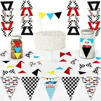 Let's Go Racing - Racecar - Diy Pennant Banner Decorations - Race Car Birthday Party or Baby Shower Triangle Kit - 99 Pieces