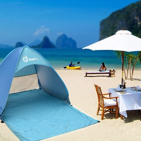 - Instant Portable Outdoors Sunshade Basecamp Folding Shelter Automatic Pop Up Cabana Beach Tent