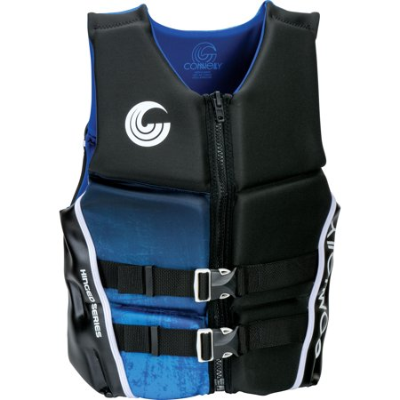 CWB Connelly Classic NEO Neoprene Mens Medium Life Jacket Vest PFD, Black/Blue