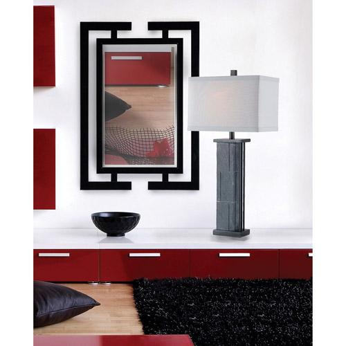 Kenroy Home Shinto Wall Mirror, Gloss Black