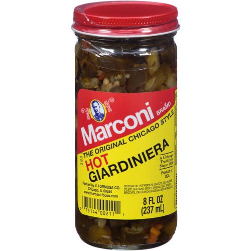 Marconi Hot Giardiniera, 8 fl oz, (Pack of 12)