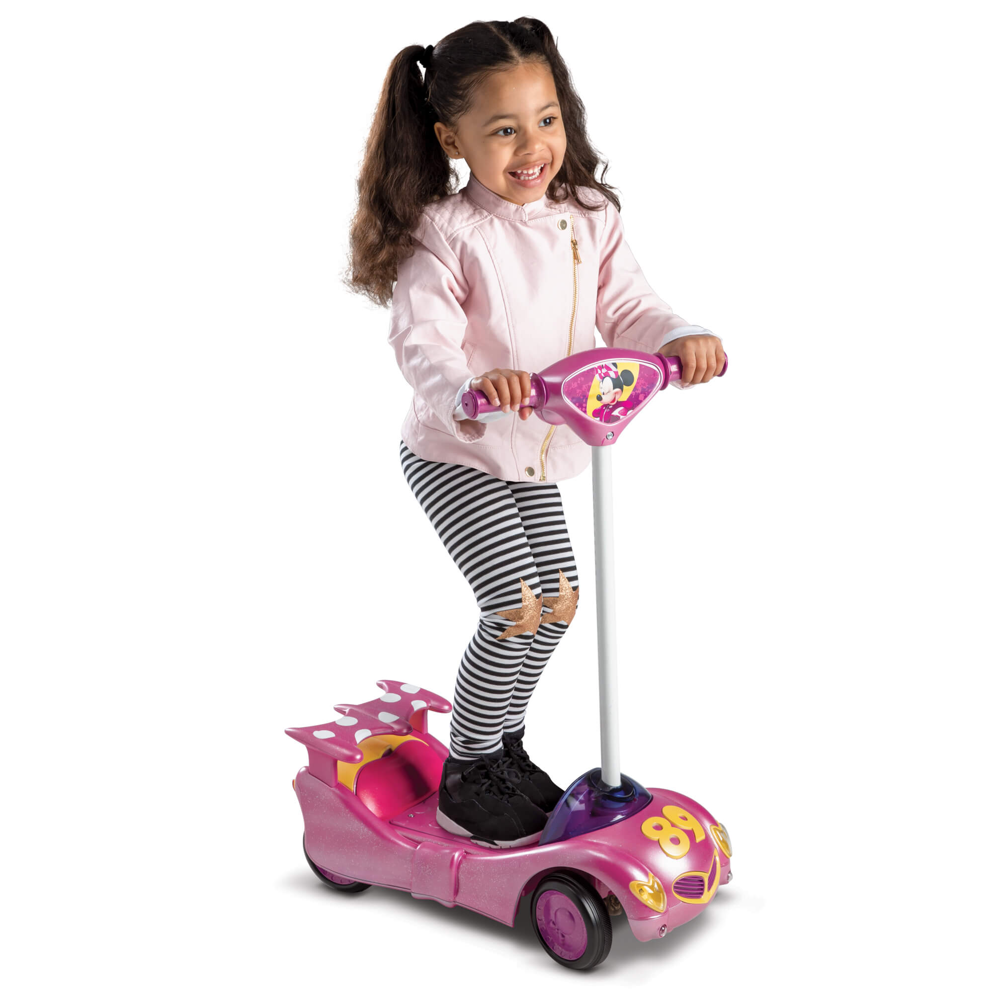 Disney Minnie Girls 6V Battery-Powered Ride-On Scooter by Huffy by Huffy