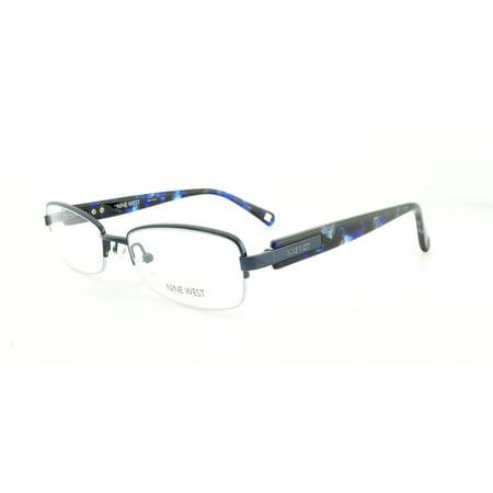 beeb6f9431 NINE WEST Eyeglasses NW1042 424 Blue 51MM - Walmart.com