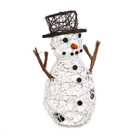 Lighted Vine Snowman