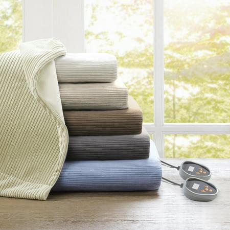Knitted Micro Fleece Electric Blanket (Queen) Natural - Beautyrest
