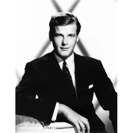 Roger Moore Mid 1950S Photo Print