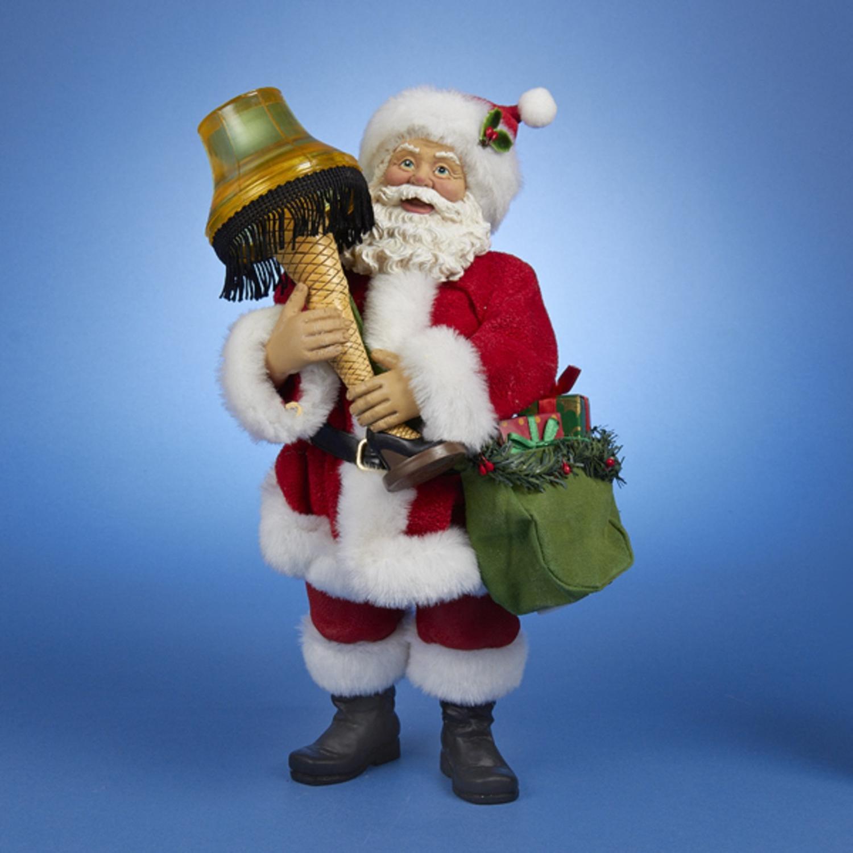 KSA A Christmas Story Leg Lamp Santa With Light Table Top...