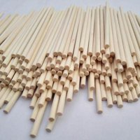 "Wooden Dowel Rods 1/4"" x 12"" - Bag of 100 BY WOODNSHOP"