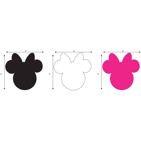 - Disney Minnie Small Ears Adhesive Felt, Multi-Colored