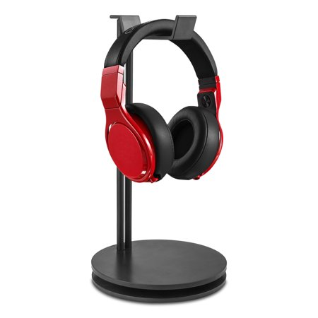 Headphone Display Stand, Aluminum Gaming Headset Holder Hanger Earphone Bracket with Cellphone Stand and Cable Organizer Supporting Bar for All Headphones Size