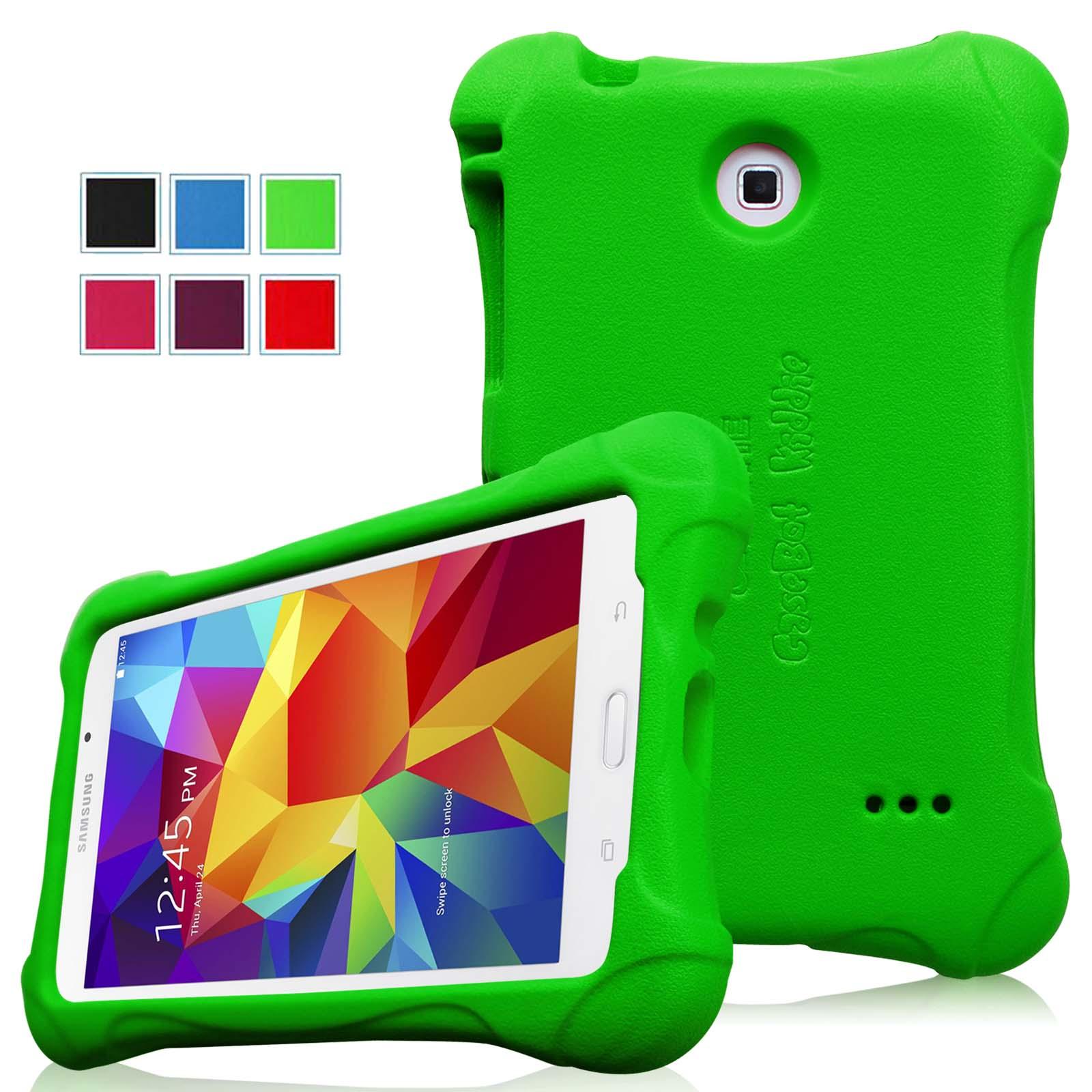 Fintie Samsung Galaxy Tab 4 7.0 Inch Kiddie Case - Ultra Light Weight Shock Proof Kids Friendly Cover, Green