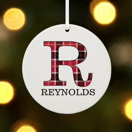 Personalized Plaid Name Christmas Ornament - Christmas Character Names
