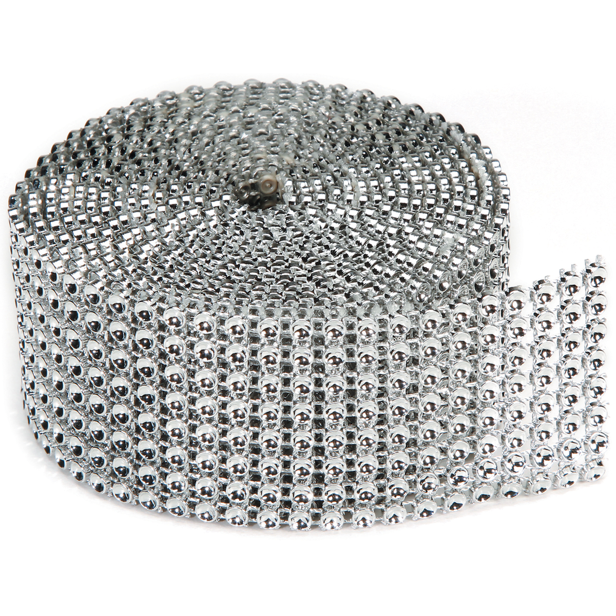 Bling On A Roll 3mmX2yd-8 Rows, Silver