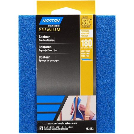 Contour Sanding Pads - Norton 82082 5X 180 Grit Contour Sanding Pads, The flexible sanding abrasive is perfect for curved, contoured or flat surfaces of wood, metal, paint,.., By Norton Co