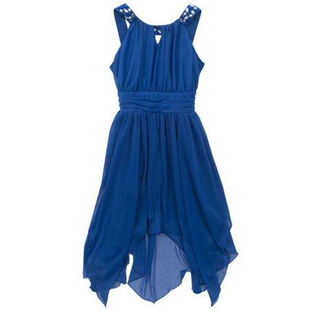 Rare Editions Tween Girls Chiffon U-Neck Keyhole Dress - Dresses For Tweens