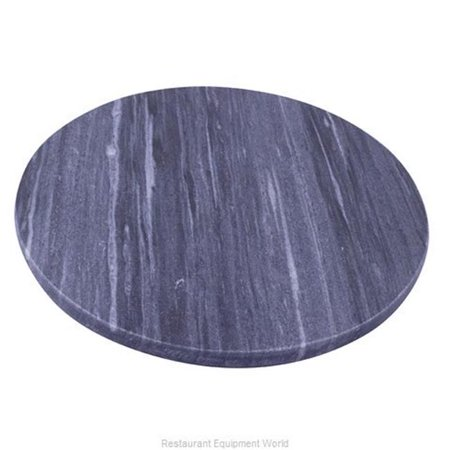 World Cuisine A5101135 13.75 in. dia. Round Lazy Susan Black Marble (Dia Black Marble)