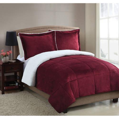 Micro Mink Sherpa Bedding Comforter Set