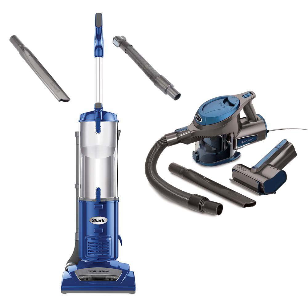 Certified Refurbished Shark Navigator Vacuum + Rocket Handheld Vacuum, Blue