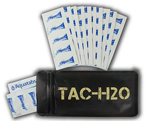 TAC-H2O Refill 100 Aquatab Water Purification Tablets By Tac-Bar Tactical Food Rations by AQUATABS