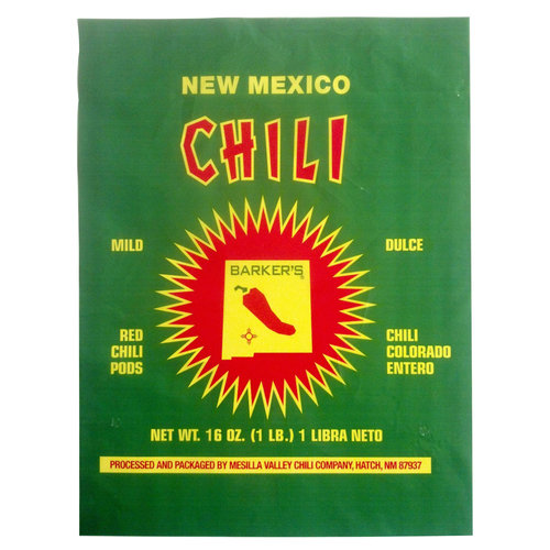 Barker's New Mexico Red Chili Pods, 16 oz