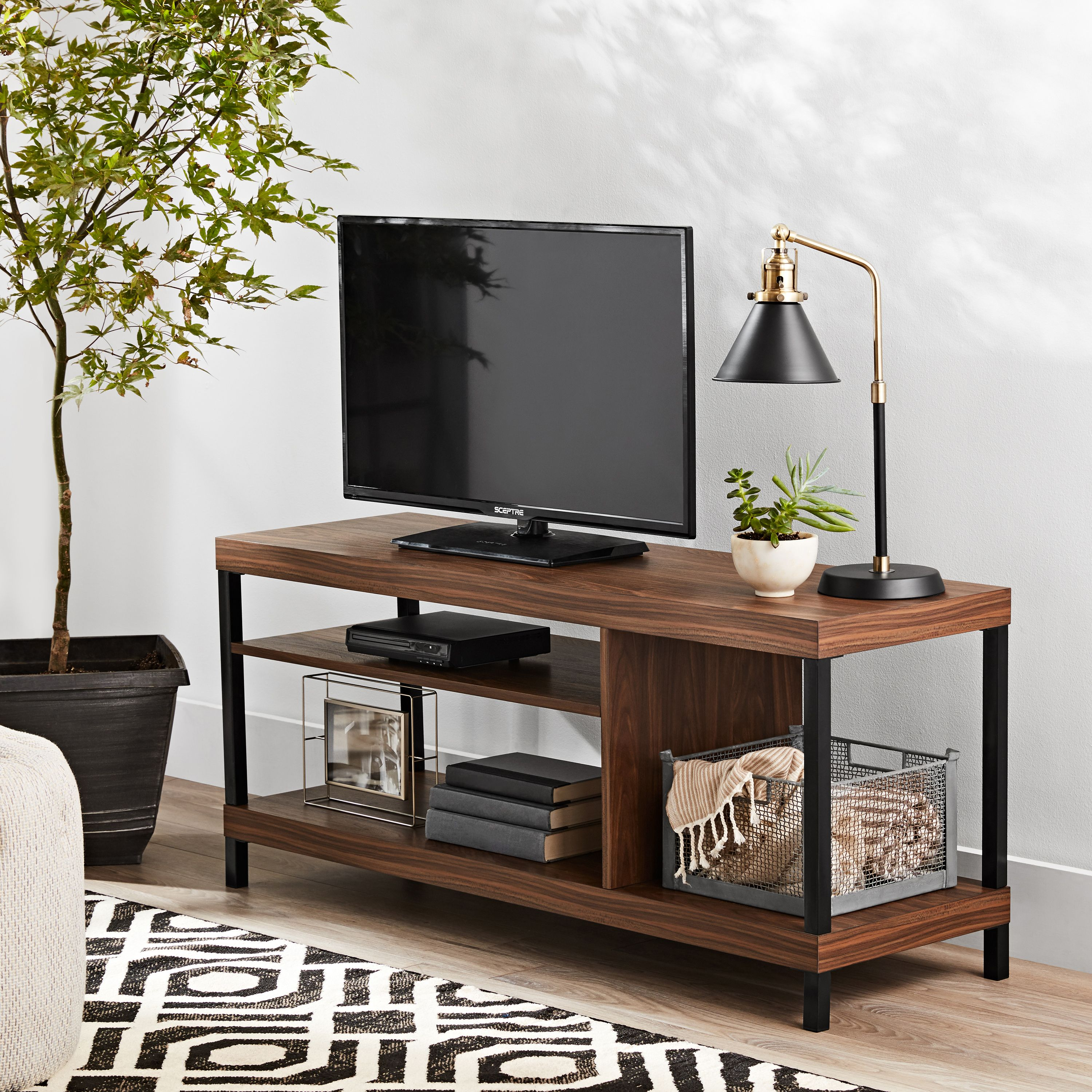 MAINSTAYS SUMPTER PARK TV STAND FOR TV`S UP TO 42``