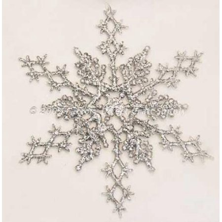 silver glitter snowflake winter wedding favors or