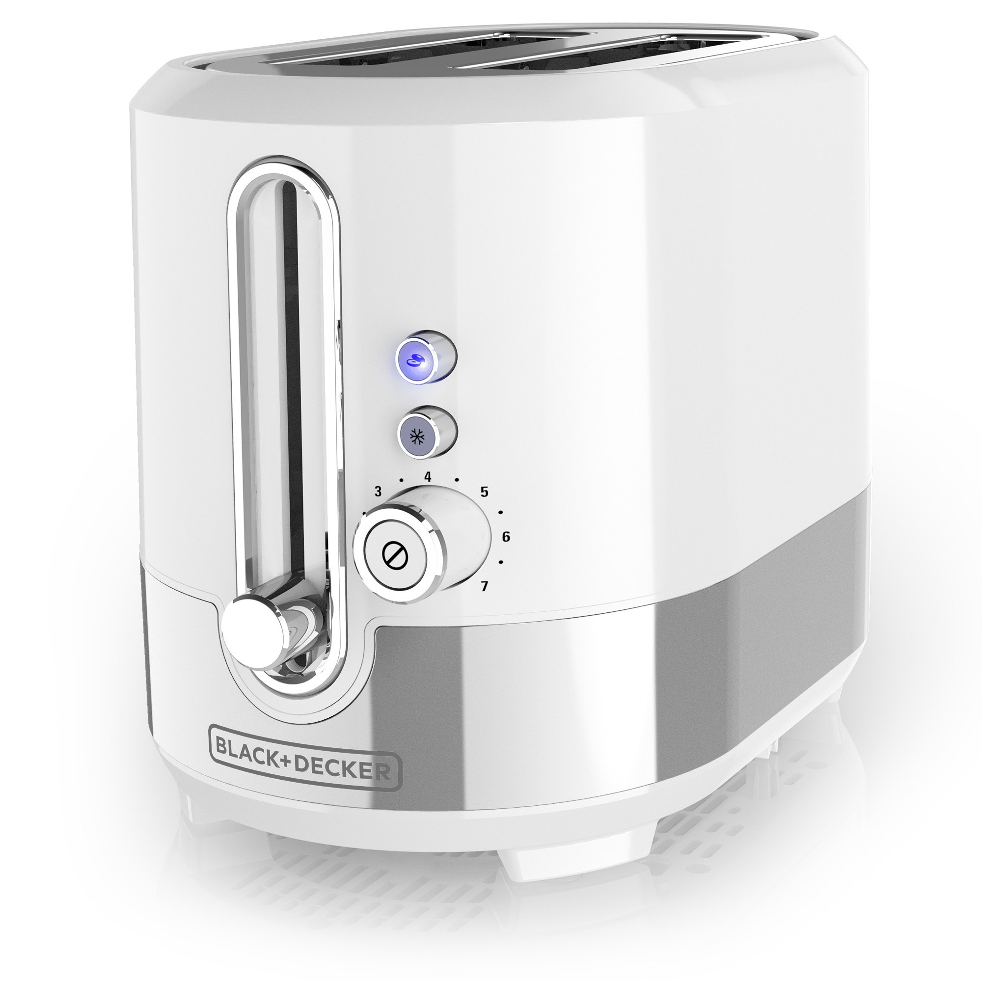 2-Slice Extra-Wide Slot Toaster, White by Black & Decker