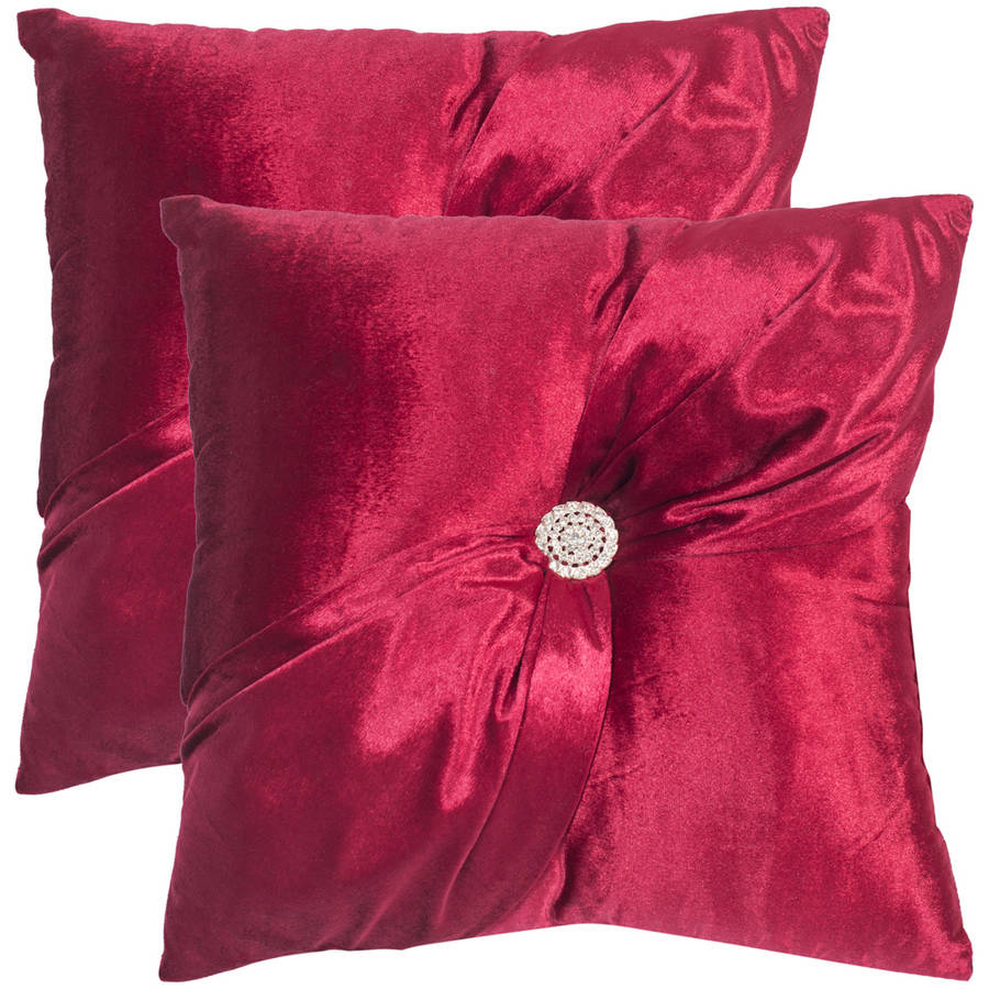 Safavieh Posh Holiday Red Solid Pillow, Set of 2