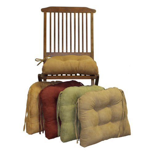Blazing Needles U-Shape 16 x 16 in. Micro Suede Dining Chair Cushions - Set of 4