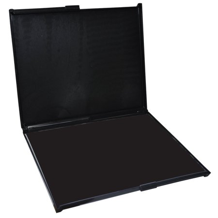 MaxMark Extra Large Industrial BLACK Stamp Pad - 6 by 8 - Premium Felt Pad (Large Stamp Pads)