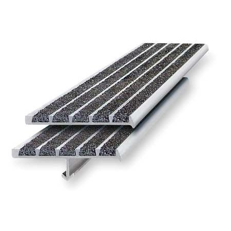 - WOOSTER PRODUCTS 231BF-3 Stair Nosing, Black, Extruded Aluminum