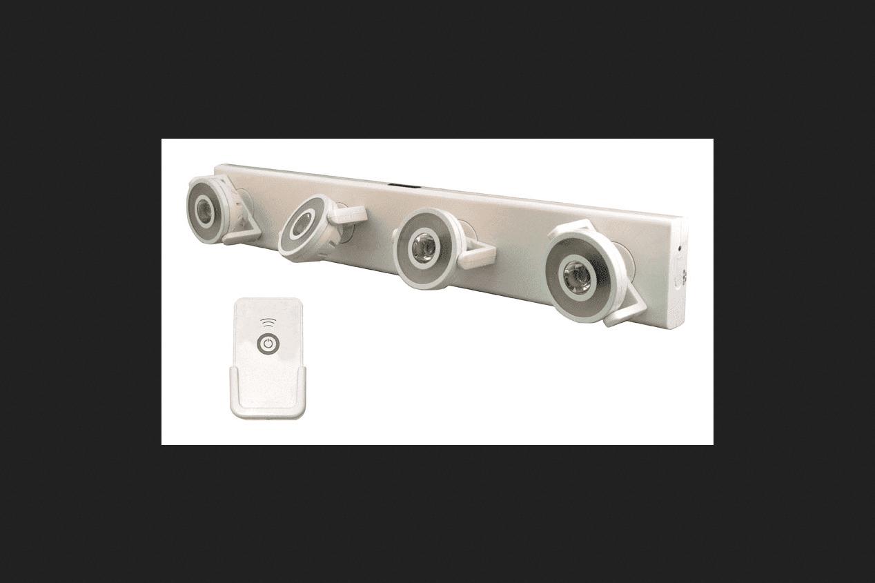 Rite Lite Battery 12 LED Under Cabinet Light Strip White 200 ...
