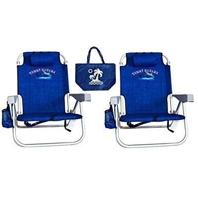 2 Tommy Bahama Backpack Beach Chairs Blue 1 Medium Tote Bag