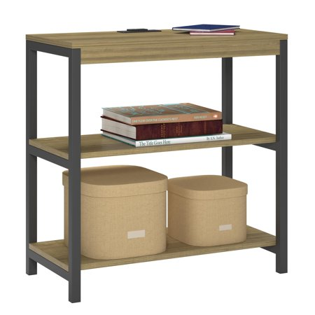 Ameriwood Home Nickle Creek 3 Shelf Bookcase, Golden Oak
