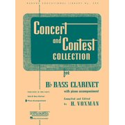 Rubank Educational Library: Concert and Contest Collection for BB Bass Clarinet: Piano Accompaniment (Paperback)