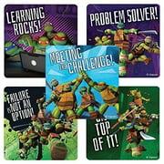 Teenage Mutant Ninja Turtle Motivational Stickers - Birthday Party Favors - 75 per pack