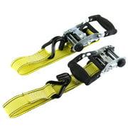 Retractable J-Hook Ratchet Tie Downs 15' 2 Pack CargoLoc Rubber Handle 89992